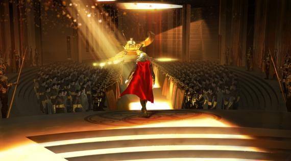 Concept art de en Thor (2011), por Nathan Schroeder
