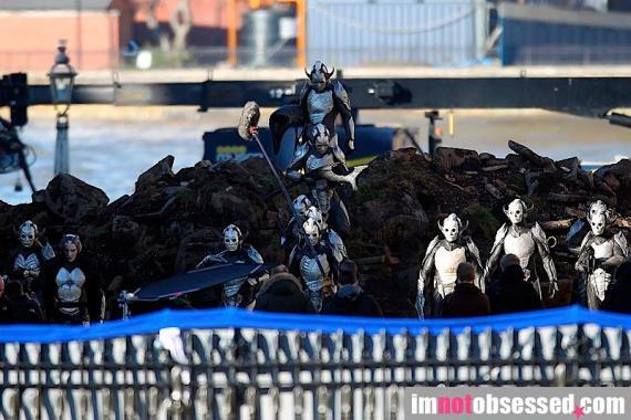 Imagen del set de rodaje de Thor: The Dark World (2013) en Londres (Reino Unido)