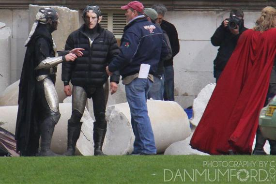 Imagen del set de rodaje de Thor: The Dark World (2013) en Londres (Reino Unido)