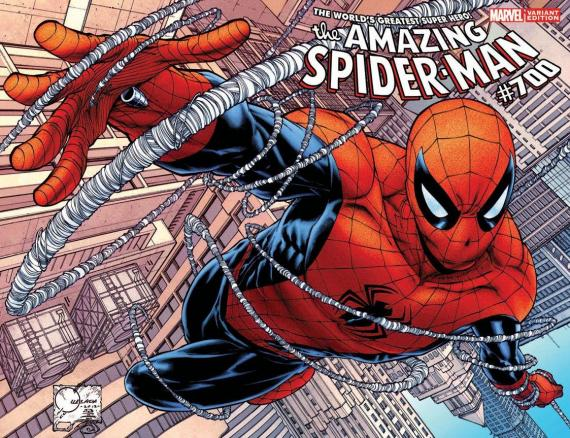"Portada Alternativa de Joe Quesada para ""Amazing Spider-Man #700"""