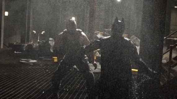 Imagen oficial del set de The Dark Knight Rises / El Caballero Oscuro: La Leyenda Renace (2012)