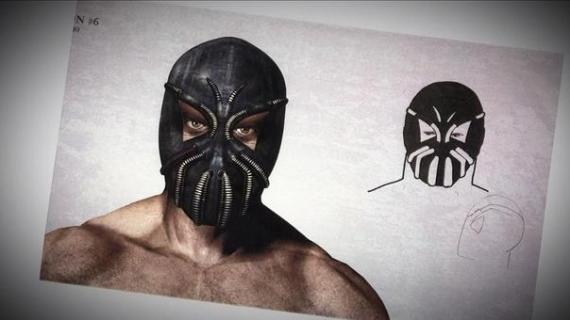 Concept art de The Dark Knight Rises / El Caballero Oscuro: La Leyenda Renace (2012), diseño alternativo de la máscara de