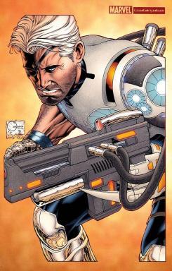 """""""Cable and the X-Force #1"""" Portada Variante de Joe Quesada"""