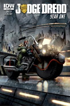 Portada del cómic Judge Dredd: Year One #1, por Greg Staples