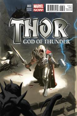 Portada alternativa del cómic Thor: God of Thunder #3 (2013)