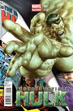 Portada alternativa del cómic Indestructible Hulk #2 (2013)