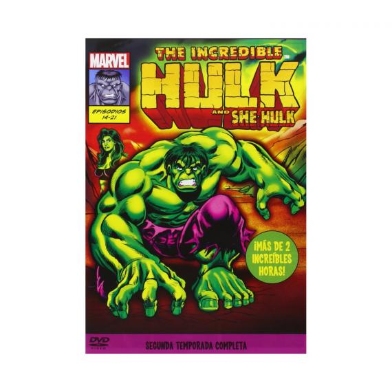 "Segunda temporada de ""The Icredible Hulk"" en DVD"