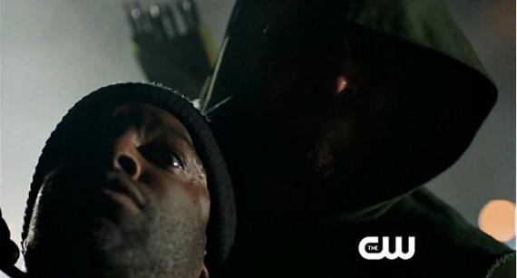 Captura de la promo de Arrow 1x10 Burned