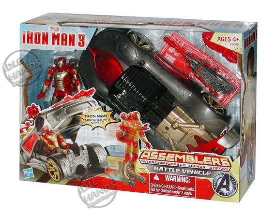 Juguete de Hasbro de Iron Man 3 (2013): Iron Assemblers Battle Vehicle