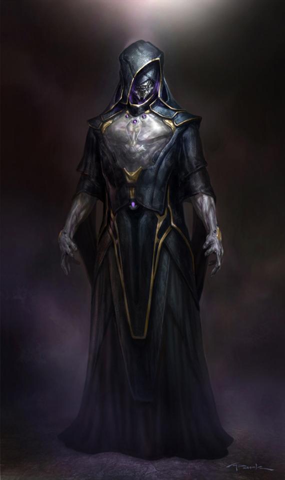 Concept art de El Otro en The Avengers / Los Vengadores (2012), obra de Andy Park