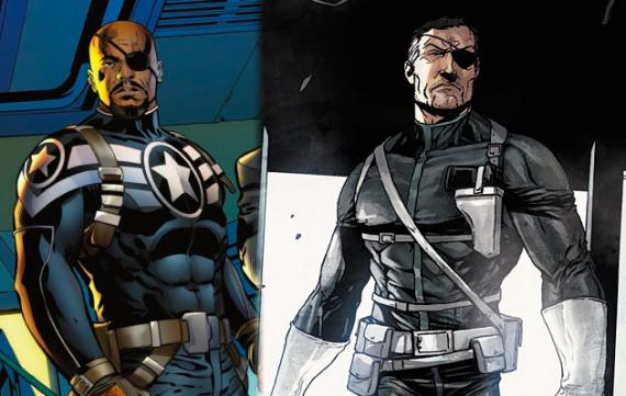 Marcus Johnson y Nick Fury del universo tradicional de Marvel Cómics
