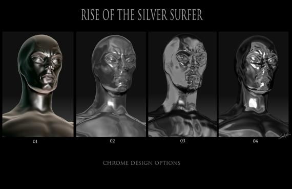 Concept art de 4: Rise of the Silver Surfer / Los 4 Fantásticos y Silver Surfer (2007), por Constantine Sekeris