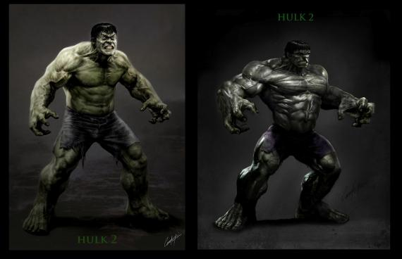 Concept art de The Incredible Hulk / El Increíble Hulk (2008), por Constantine Sekeris