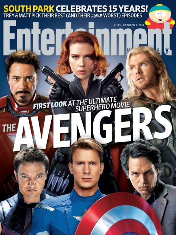 The Avengers como portada del numero de Octubre 2011 de Entertainment Weekly
