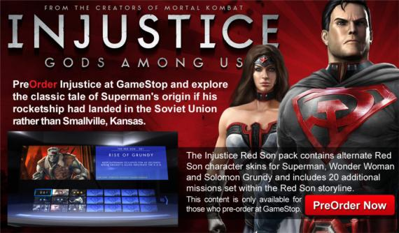 Pack Red Son para Injustice Gods Among Us (2013)