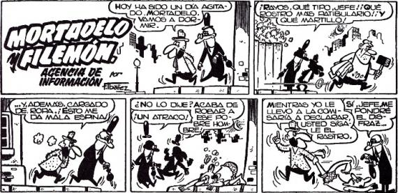Primeras viñetas de Mortadelo y Filemon