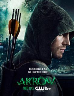 Póster promocional de la segunda mitad de la primera temporada de Arrow