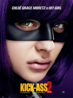 Póster individual de Kick-Ass 2 (2013), Chloe Grace Moretz es Hit-Girl