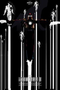 Diseño alternativo para el póster IMAX de Iron Man 3 (2013), por Jock