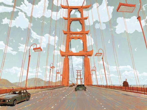 Concept art de la película animada Big Hero 6 (2014)