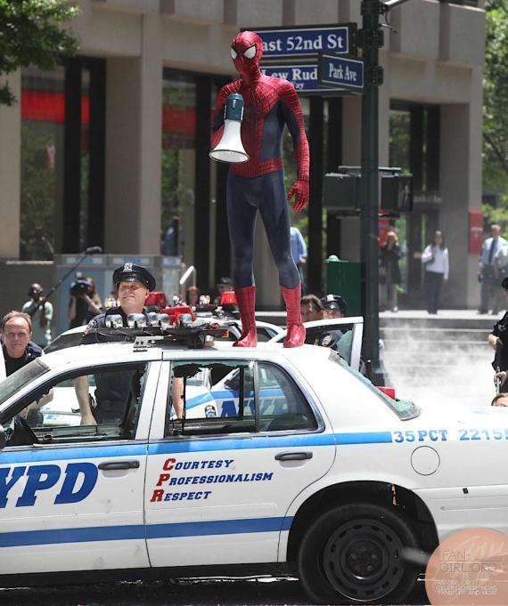 Imagen del set de rodaje de The Amazing Spider-Man 2 (2014) en Nueva York