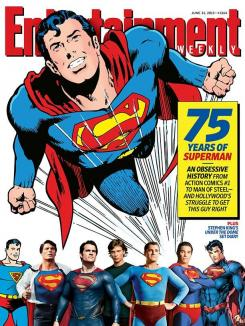 75 aniversario de Superman en Entertainment Weekly con motivo del estreno de Man of Steel / El Hombre de Acero (2013)