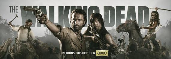 Banner promocional de la cuarta temporada de The Walking Dead