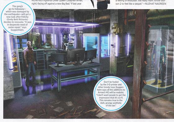 La nueva guarida de Arrow en Entertainment Weekly