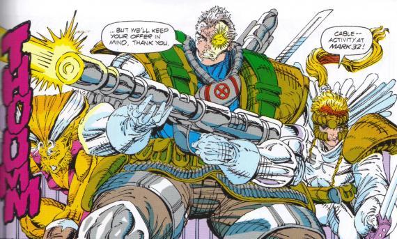 X-Force / Fuerza-X en su versión de los cómics de los años 90