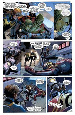 Imagen del interior del cómic estadounidense Guardians of the Galaxy vol.3 #2
