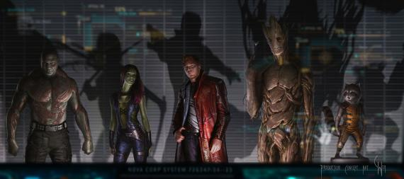 Concept art de Guardians of the Galaxy (2014), por Charlie Wen