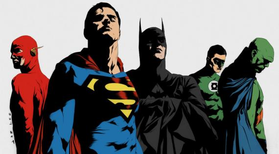 Justice League, dibujado por Jae Lee y coloreado por spytroop