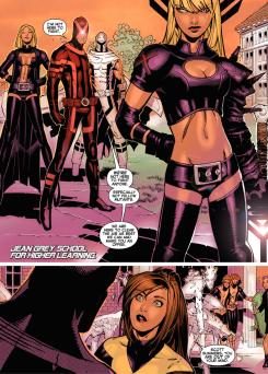 Interior del cómic estadounidense Uncanny X-Men v3 #4, dibujo por Chris Bachalo