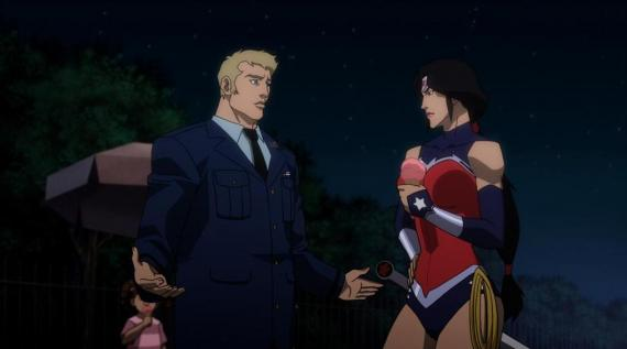 Steve Trevor y Wonder Woman en Justice League: War (2014)