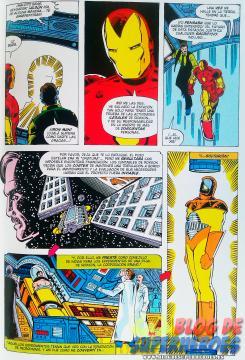 Interior del tomo Marvel Gold. Iron Man: La caída del pozo estelar, publicado por Panini Cómics (agosto 2013)