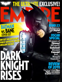 The Dark Knight Rises como portada de la revista Empire