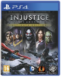 Carátula para PS4 de la Ultimate Edition del juego Injustice: Gods Among Us (2013)
