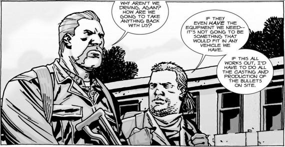 Dr. Eugene Porter y Abraham Ford en los cómics de The Walking Dead