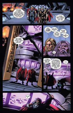 Interior del cómic estadounidense Thor: The Dark World Prelude #1