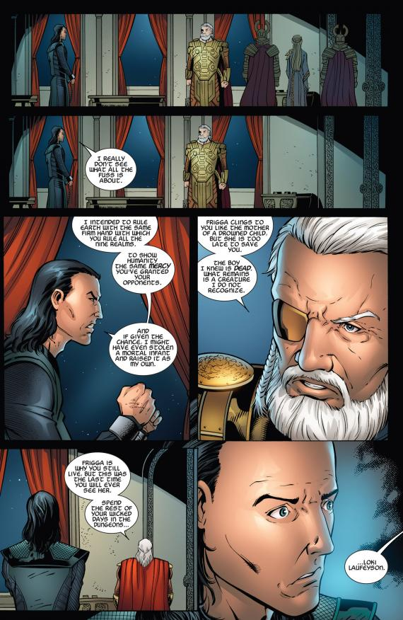 Interior del cómic estadounidense Thor: The Dark World Prelude #2