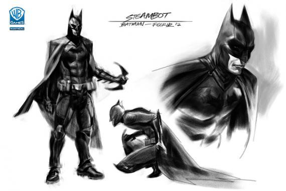 Concept art del videojuego Batman: Arkham Origins (2013), por el artista Joel Dos Reis Viegas