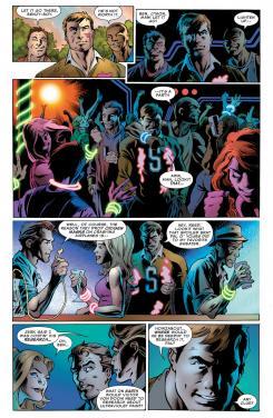 Interior del cómic estadounidense Fantastic Four vol.4 #9, dibujo por Mark Bagley
