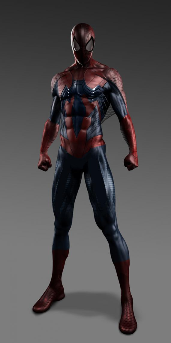 Diseño alternativo de Spider-Man para The Amazing Spider-Man (2012), por la empresa filmpaint