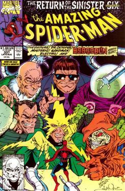 Portada del cómic estadounidense The Amazing Spider-Man #337