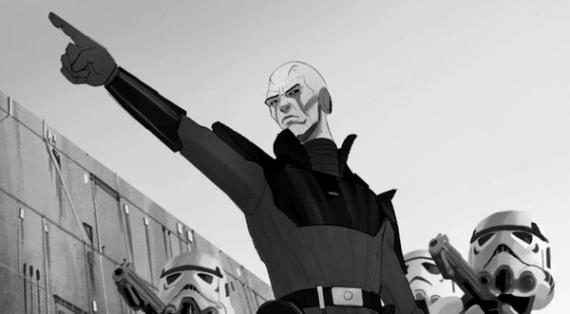 Diseño de The Inquisitor en la serie de animación Star Wars Rebels