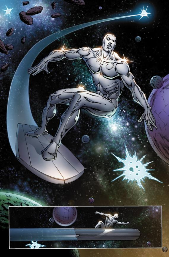 Avance del cómic Thanos: The Infinity Revelation. Silver Surfer. Arte por Jim Starlin