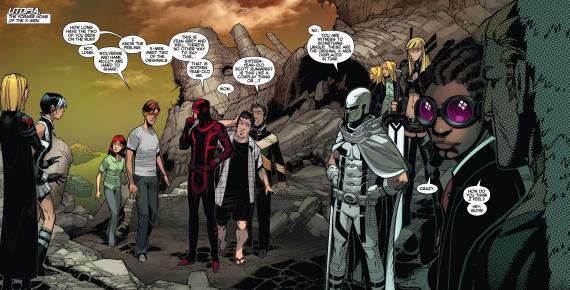 Cómic estadounidense Uncanny X-Men vol.3  #12, dibujo por Chris Bachalo (crossover Batalla del átomo / Battle of the Atom)