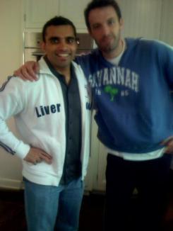 Ben Affleck y s entrenador Rehan Jalali para ser Batman vs. Superman