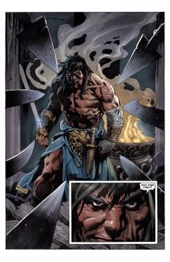 Interior del cómic King Conan Phoenix On the Sword #3, dibujo por Tomás Giorello