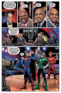 The Justice League Goes Inside the NBA: All Star Edition